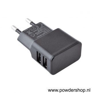 USB Wall Charger Double Black